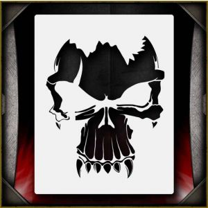 graphic about Printable Skull Stencils known as Airbrush Stencils