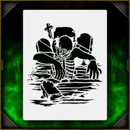 Zombie Grave Crawler 1 Airbrush Stencil Template - For ...